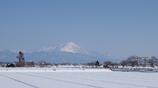 滋賀 高月 雪の田野