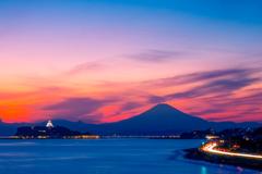 稲村ガ崎からの夕景