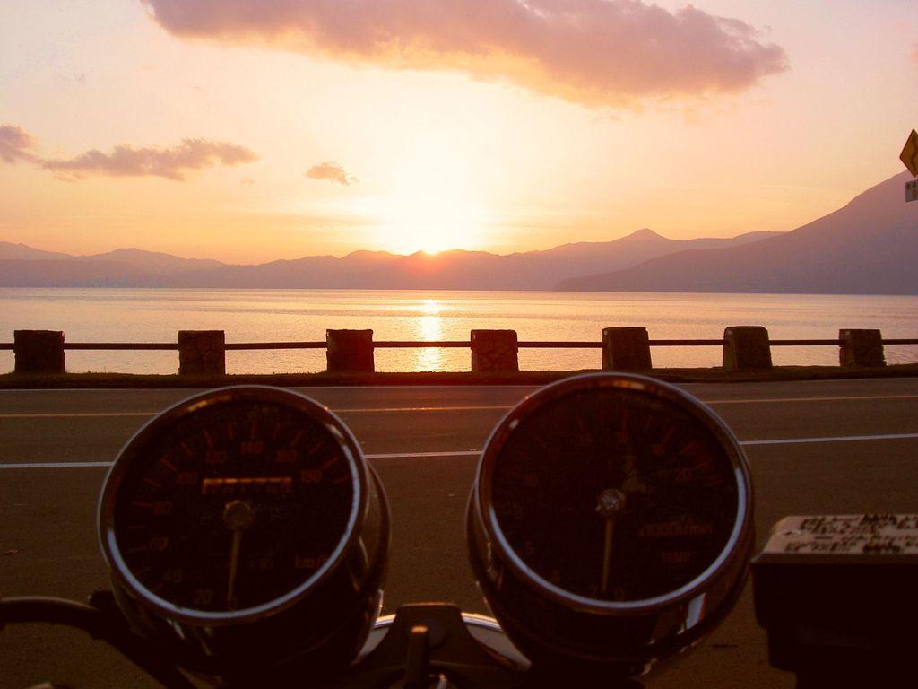 黄昏バイク