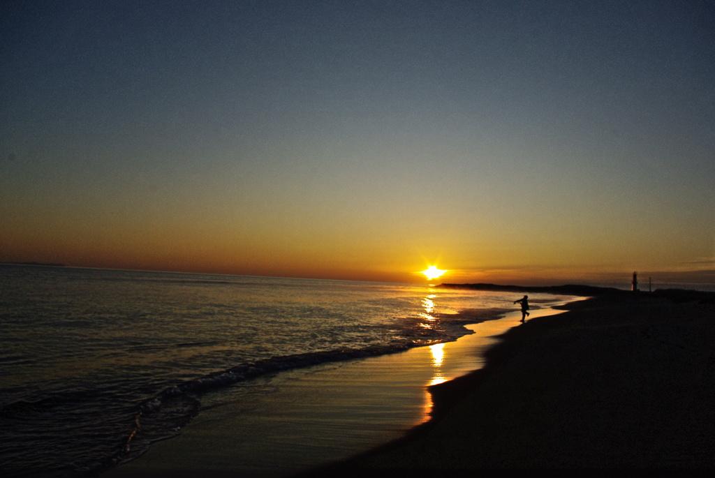 砂浜の早朝