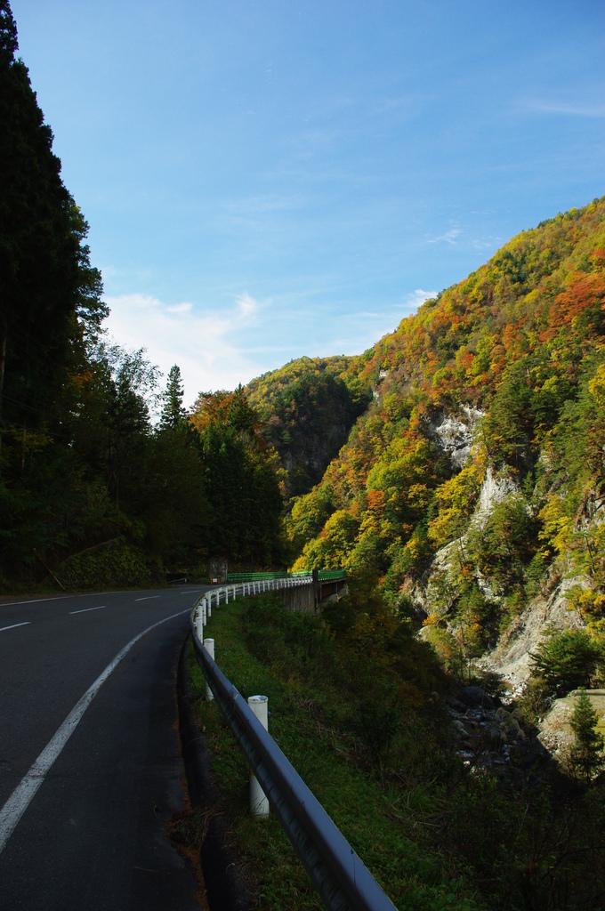 上村への道