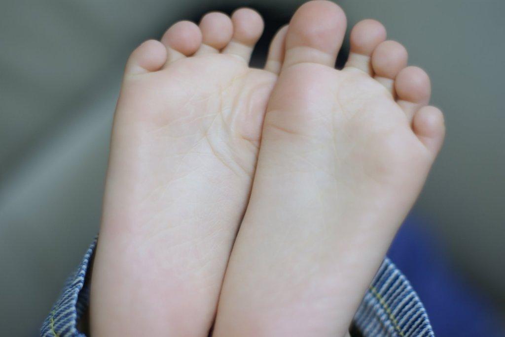 3歳児の足裏