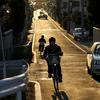 自転車通学の道