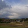 明日香から二上山・畝傍山を望む