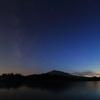 天の川×岩木山×夕焼け空=満足