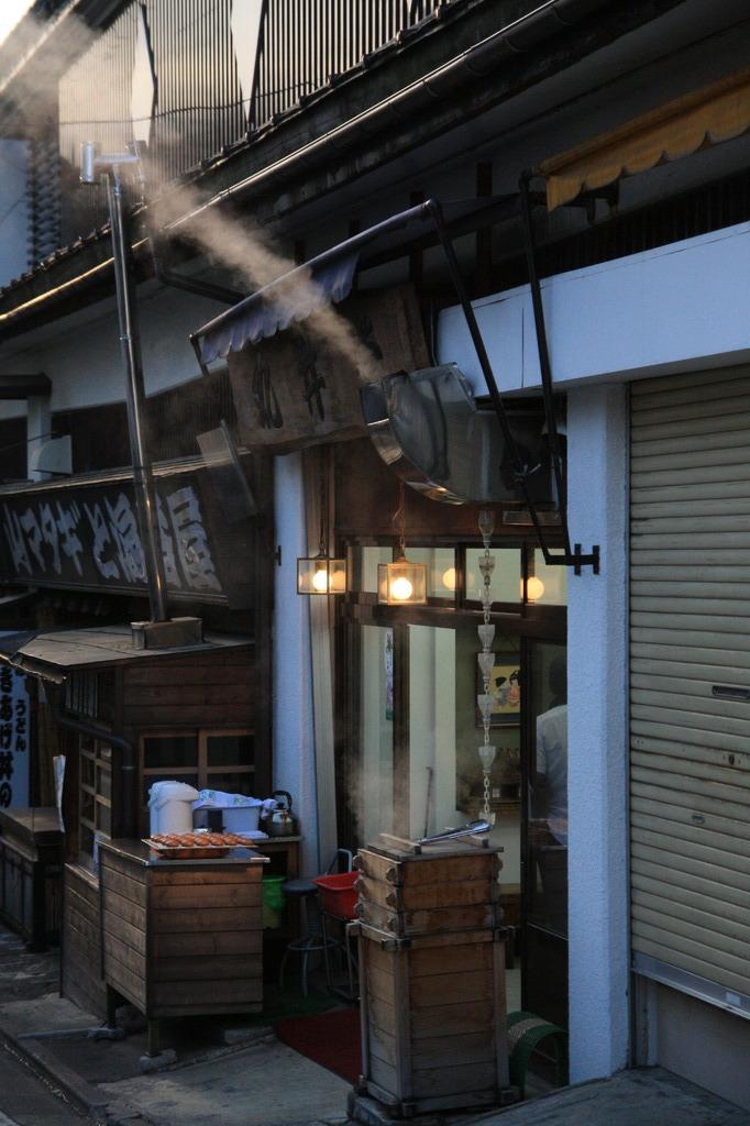 草津温泉の朝