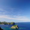 父島の空と海