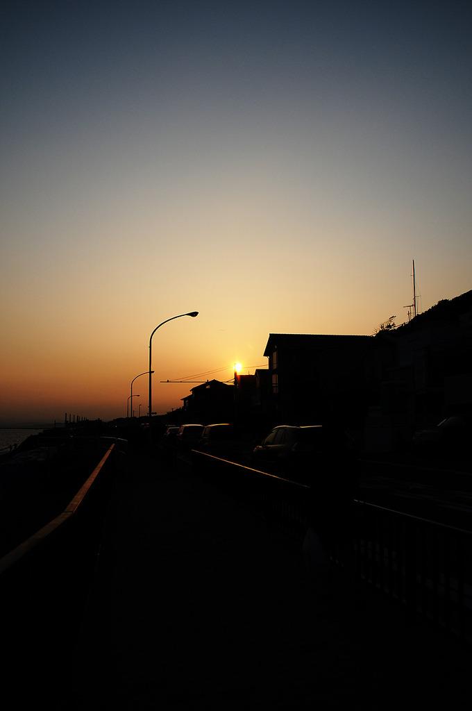七里ヶ浜夕景