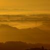霧と光が織り成す朝景