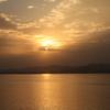 浜名湖の夕方