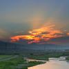 酒匂川夕景(富士山の見える夕暮れ)