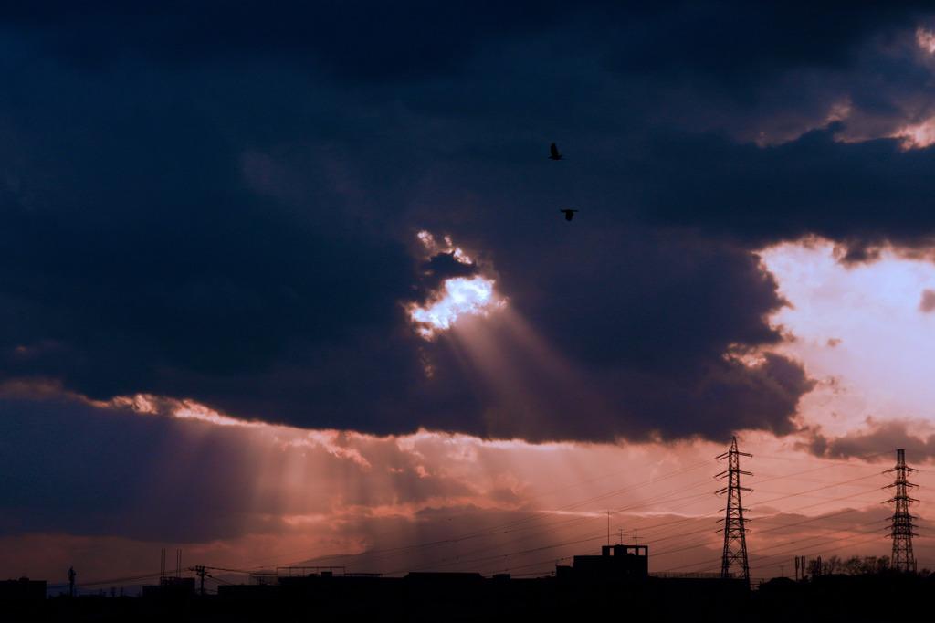 雨上がりの黄昏