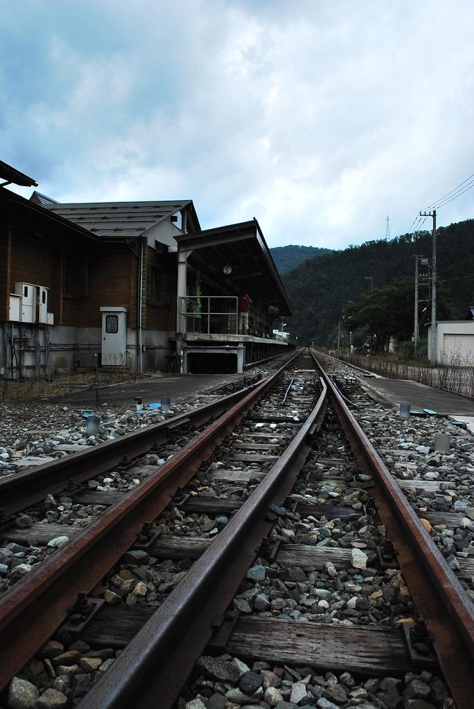 ローカル線の終点駅