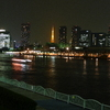 勝鬨橋付近より東京タワーと築地市場を望む(20081031-0012)