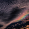 わずかに見えた虹の色