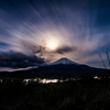 富士に降り立つ月の暈