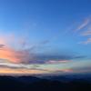 山々の夕暮れ