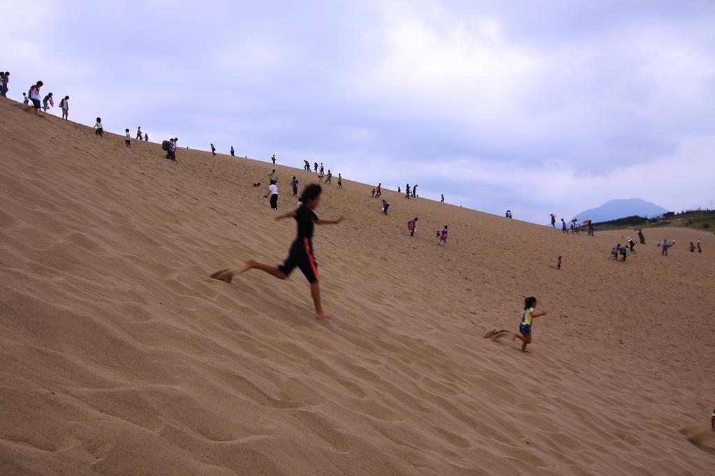 砂丘を駆ける