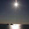 角島大橋から望む夕日