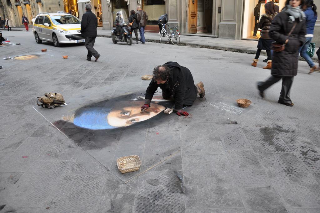 路上のアーティスト
