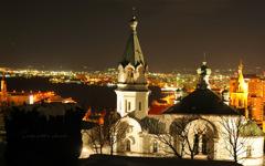 a city with a church...