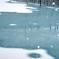 青い池 雪こんこ
