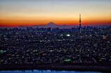 富士夜景色