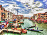 ヴェネチア - リアルト橋からの光景