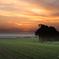 田園の夕焼け