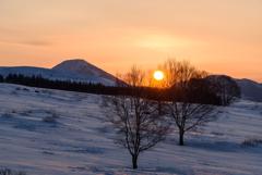 早春の日の出