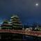 松本城未明の月
