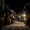 厳冬の奈良井宿
