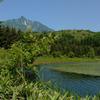 利尻山と沼