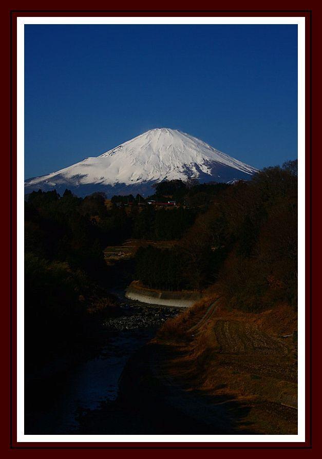 富士山と暮らす町