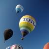 熱気球の飛翔