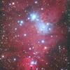 クリスマス星団からコーン星雲