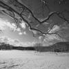雪原の晴れ間