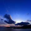 sunset in wind