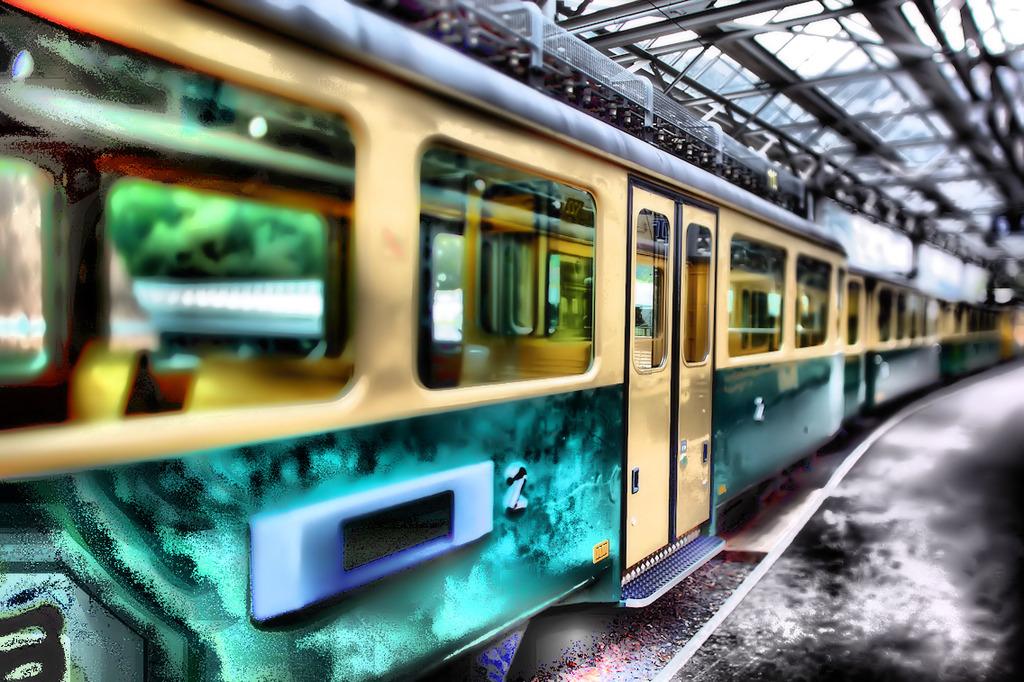 HDR ユングフラウ電車