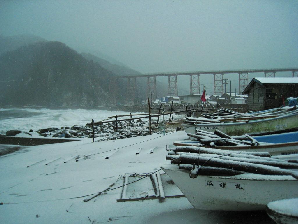 冬の餘部鉄橋
