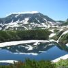 雄山とミクリガ池
