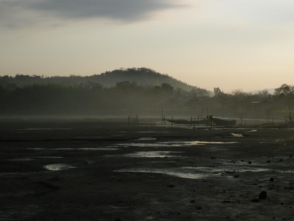 霧立つ広沢池