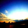 ある平凡な夕暮れの雲