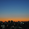晴れた夕暮れの富士山