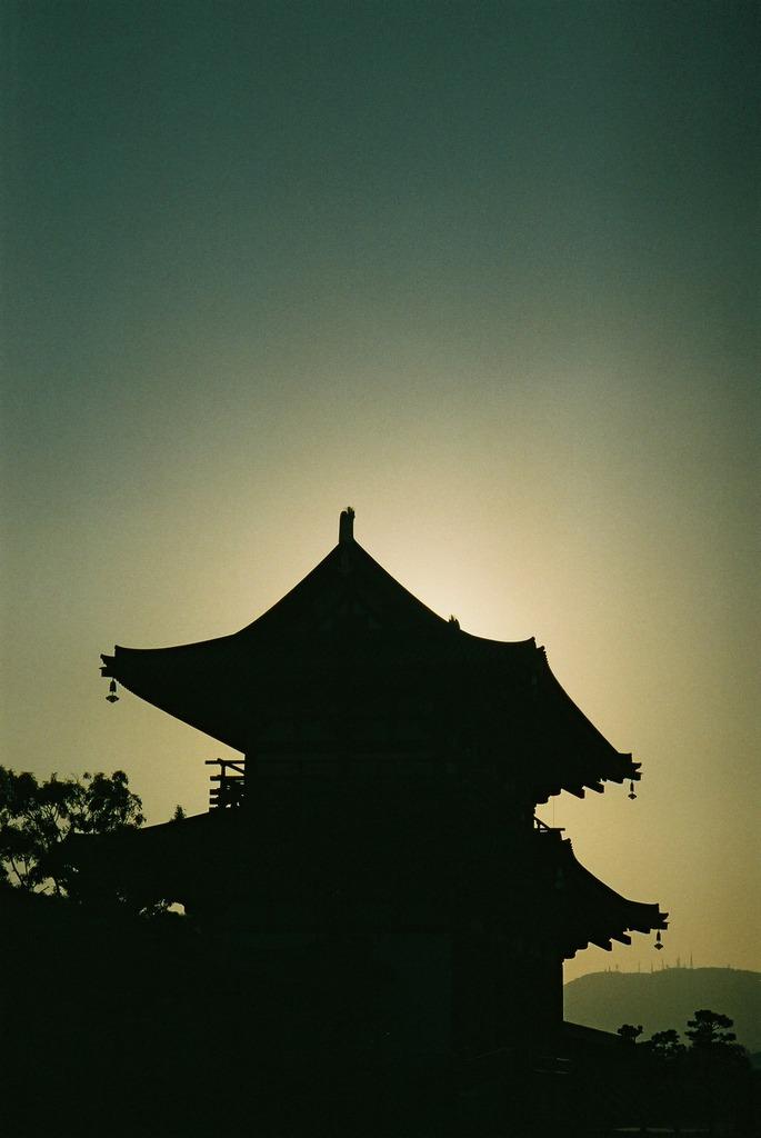 朱雀門の日没