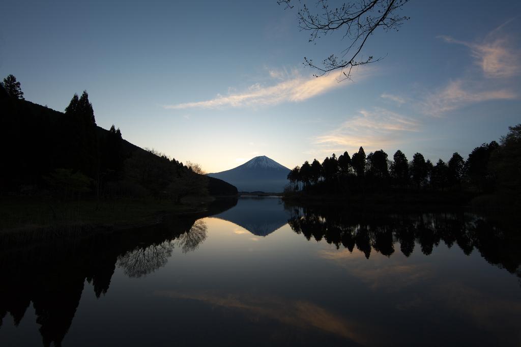 田貫湖からの富士山。