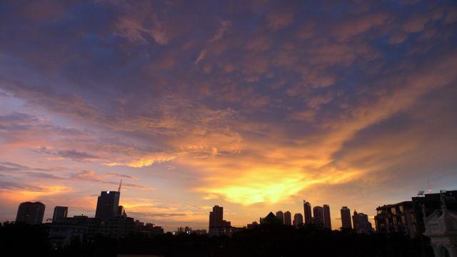 バンコクの夕焼け