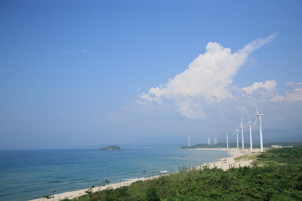 海岸線の風車