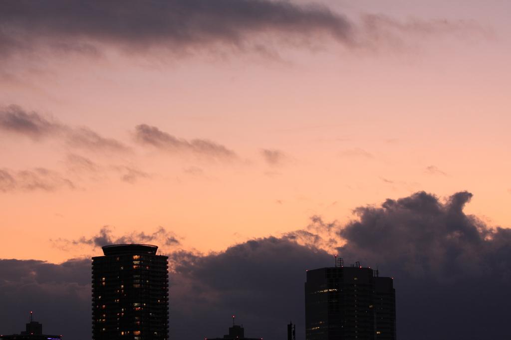 夕焼け(多摩川河川敷より)1