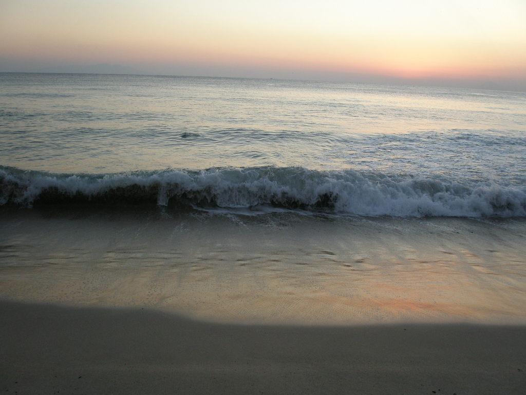 at break of dawn